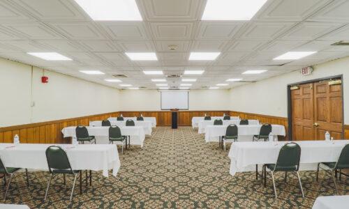 Conference room setup for presentation