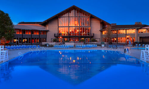 Exterior of Lodge at Dusk