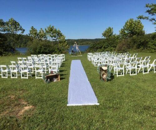 Scenic wedding ceremony
