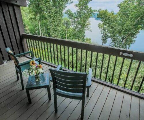 Balcony facing the lake