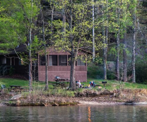 Lakeside Cabin in the Spring