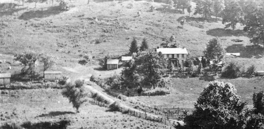 Old Picture of the Kennedy Stone House